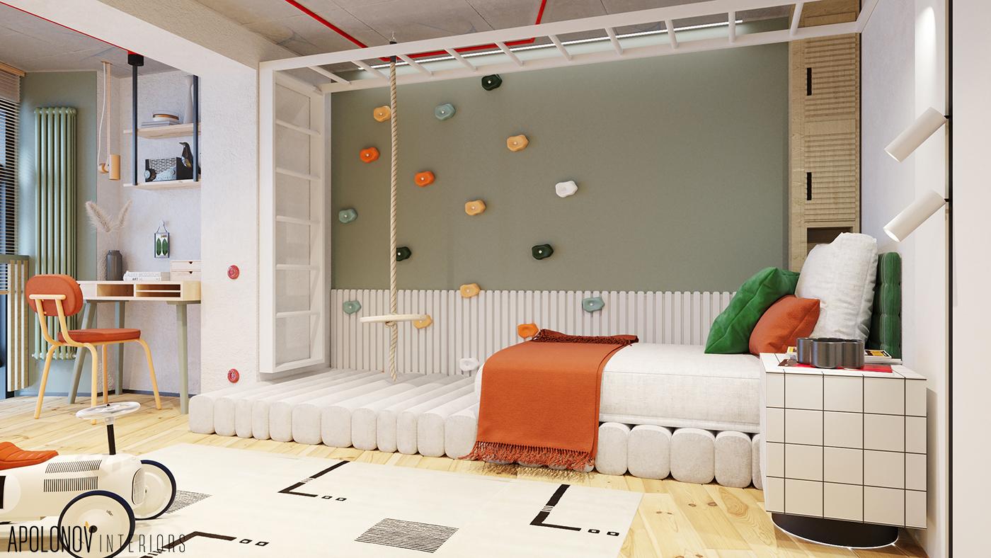 стильный дизайн детской 2021