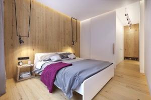 фуксия в интерьере спальни