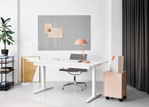 серый цвет в интерьере домашнего офиса